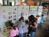 Kinder schauen sich die Ausstellung an